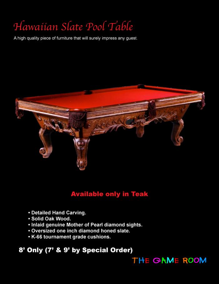 The Gameroom - 7 inch pool table
